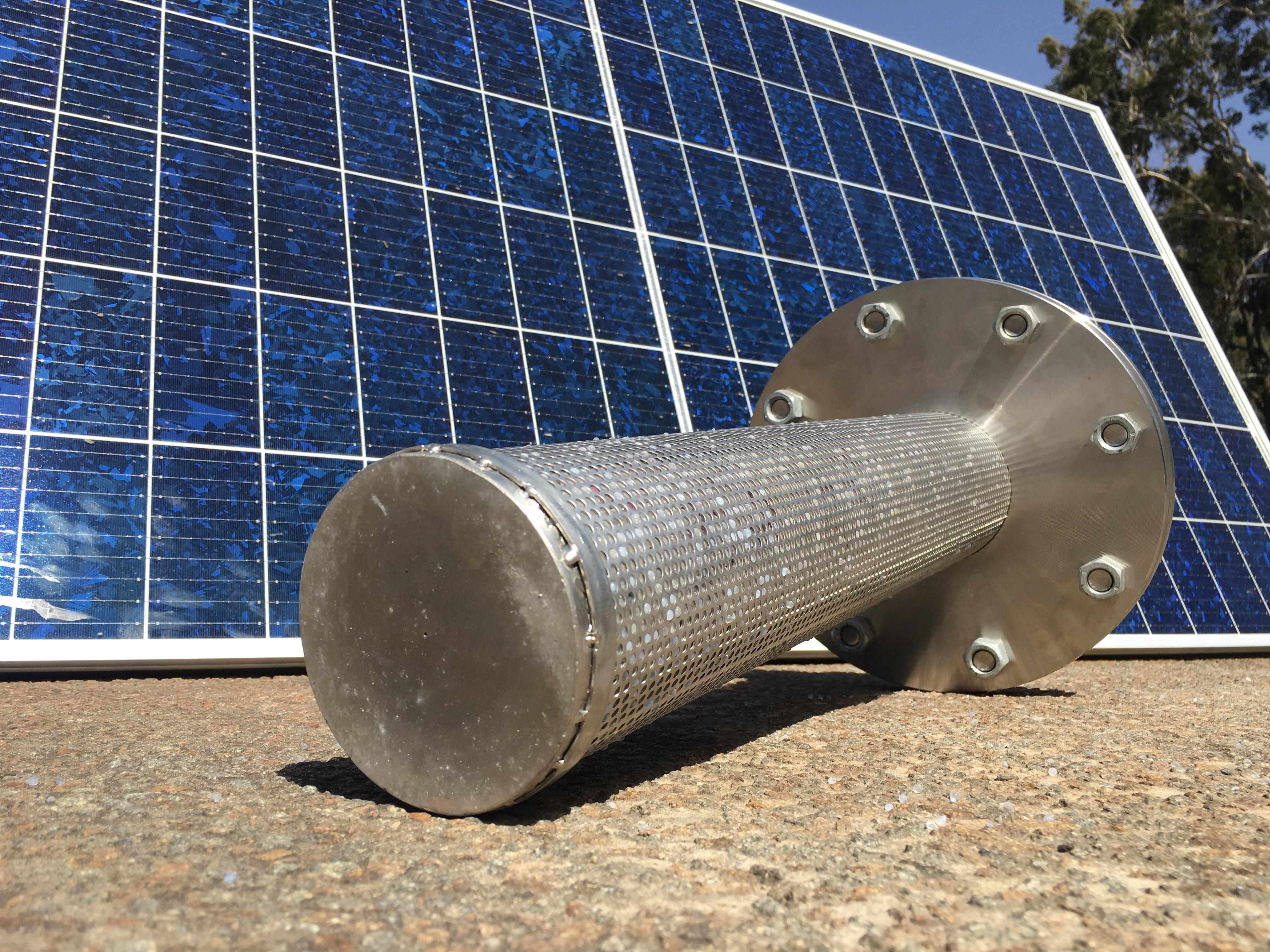 Indirect solar thermal prototype