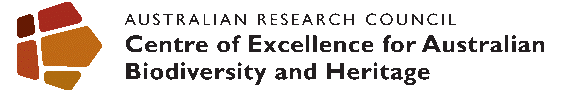ARC Centre of Excellence for Australian Biodiversity and Heritage logo