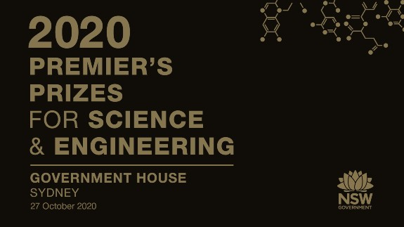Logo for the 2020 Premier's Prizes for Science & Engineering