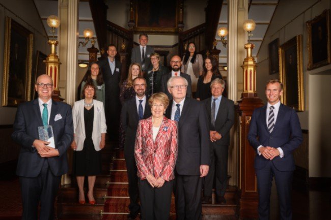The winners of the 2020 Premier's Prizes with Her Excellency the Hon Margaret Beazley AC QC, Governor of NSW, the Hon Rob Stokes MP and Professor Hugh Durrant-Whyte