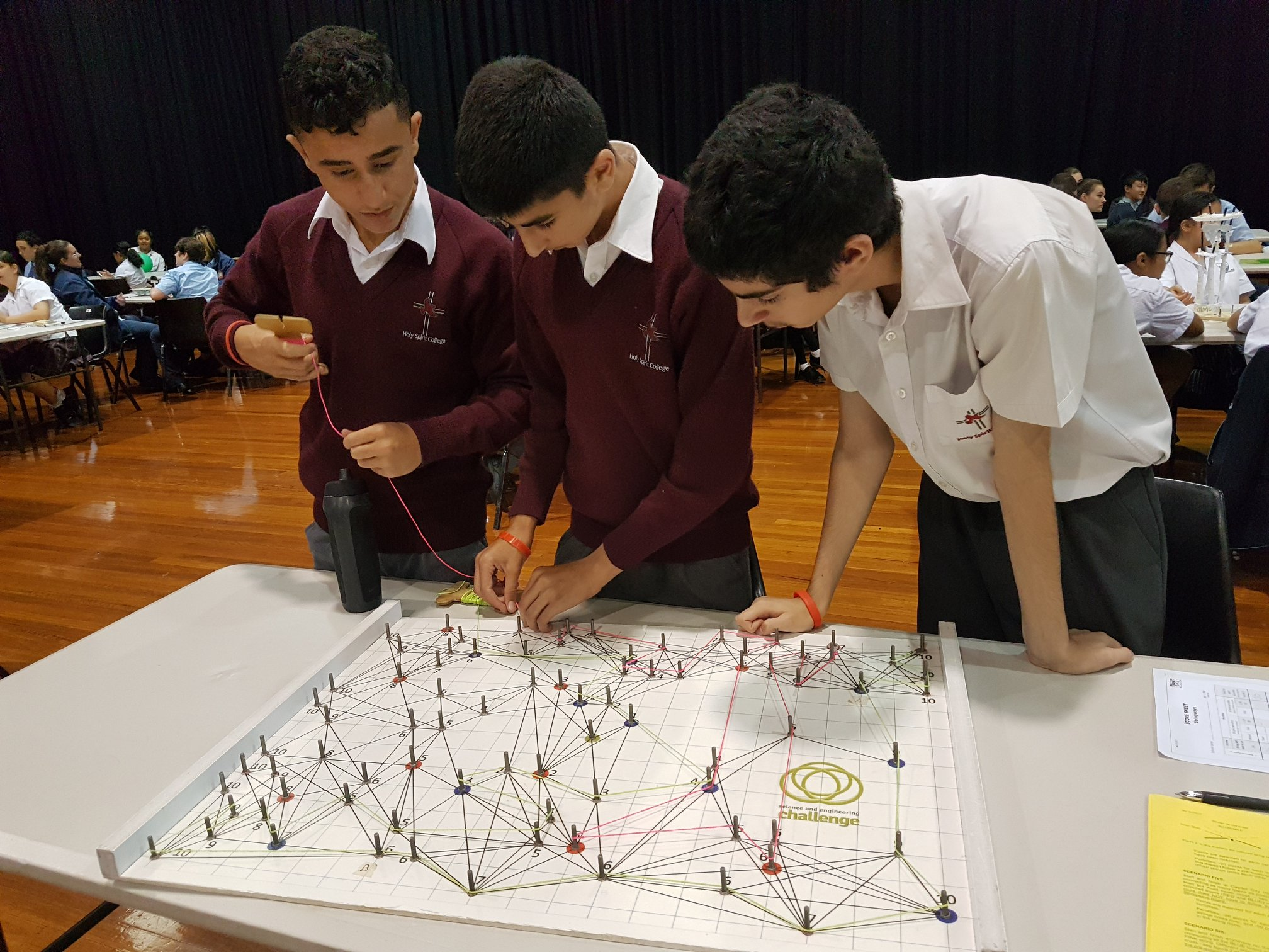 Students competing in the power grid event of the 2019 SEC