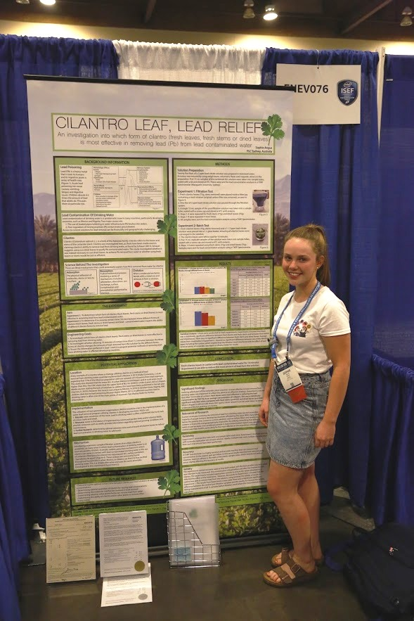 Sophie Angus at ISEF
